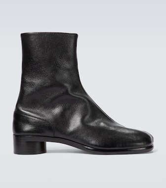 Maison Margiela - Tabi grainy leather boots - mytheresa.com