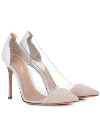 Gianvito Rossi - Exclusive to mytheresa.com – Plexi leather pumps - mytheresa.com