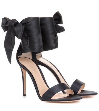 Gianvito Rossi - Gala satin sandals - mytheresa.com