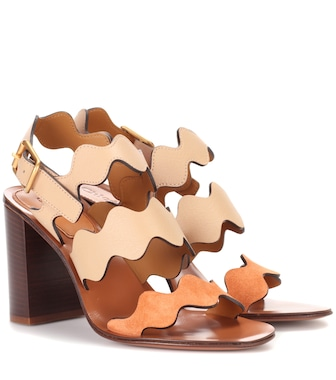 Chloé - Lauren leather sandals - mytheresa.com