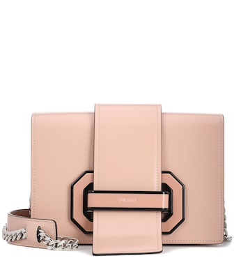 Prada - Plex Ribbon leather shoulder bag - mytheresa.com