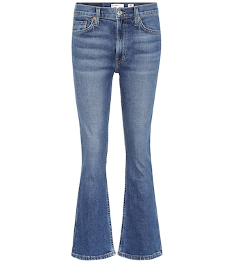Re/Done - Mid Rise Kick Flare Crop jeans - mytheresa.com