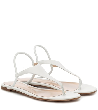 Gianvito Rossi - Anya leather sandals - mytheresa.com