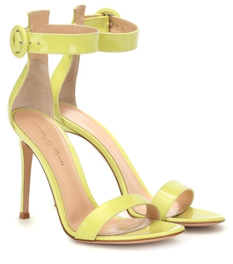Gianvito Rossi - Portofino 105 leather sandals - mytheresa.com