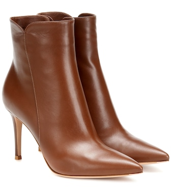 Gianvito Rossi - Levy 85 leather ankle boots - mytheresa.com
