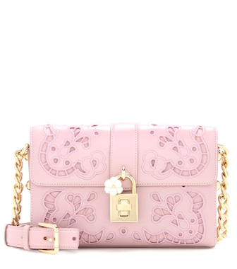 Dolce & Gabbana - Embroidered Dolce leather crossbody bag - mytheresa.com