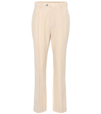 Chloé - High-rise straight wool-blend pants - mytheresa.com