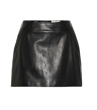 Saint Laurent - Leather miniskirt - mytheresa.com