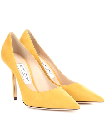 Jimmy Choo - Love 100 suede pumps - mytheresa.com