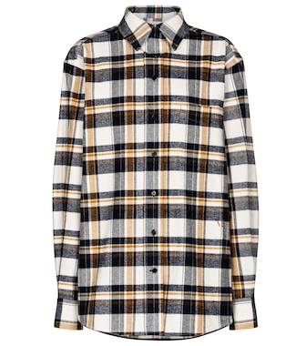 Victoria Beckham - Checked cotton flannel shirt - mytheresa.com