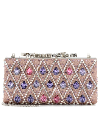 Jimmy Choo - Celeste crystal-embellished clutch - mytheresa.com