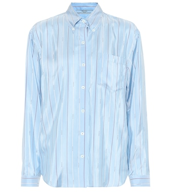 Prada - Striped silk shirt - mytheresa.com