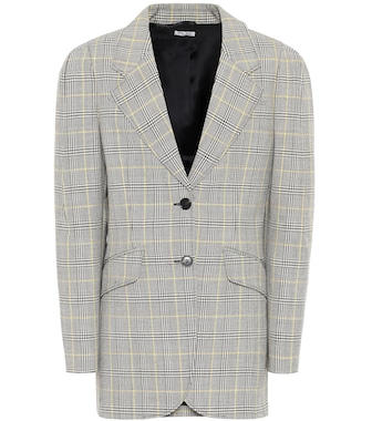 Miu Miu - Checked wool-twill blazer - mytheresa.com