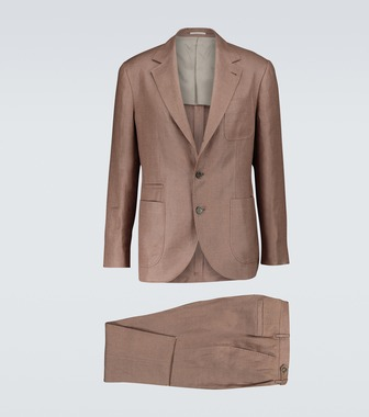 Brunello Cucinelli - Single-breasted linen suit - mytheresa.com