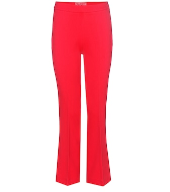 Giambattista Valli - Crêpe flared trousers - mytheresa.com