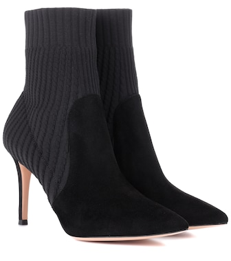 Gianvito Rossi - Katie 85 suede ankle boots - mytheresa.com
