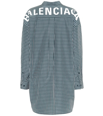 Balenciaga - Oversized checked shirt - mytheresa.com