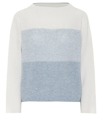 Agnona - Striped cashmere and linen sweater - mytheresa.com