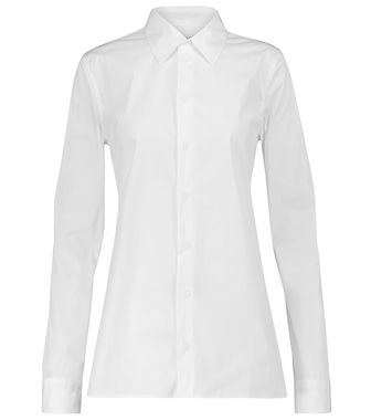Bottega Veneta - Stretch cotton-blend shirt - mytheresa.com