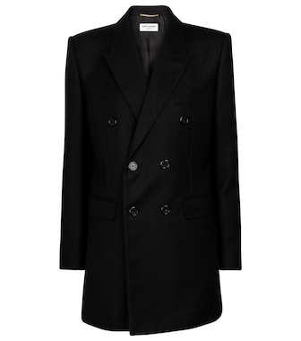 Saint Laurent - Longline wool blazer - mytheresa.com
