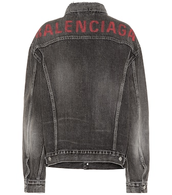 Balenciaga - Logo oversized denim jacket - mytheresa.com