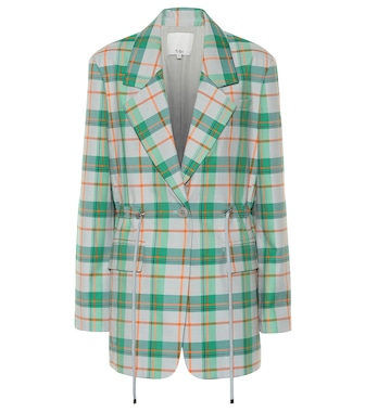 Tibi - Plaid cotton-blend blazer - mytheresa.com