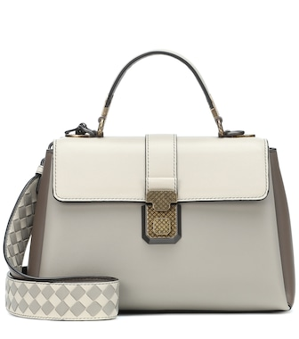 Bottega Veneta - Small Piazza leather shoulder bag - mytheresa.com