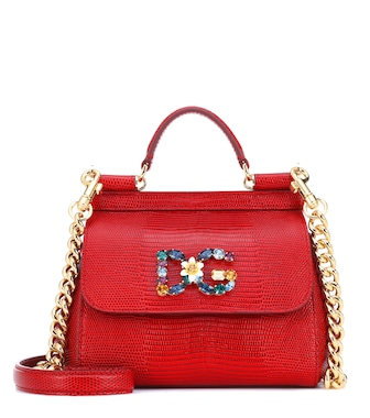 Dolce & Gabbana - Sicily Mini leather shoulder bag - mytheresa.com