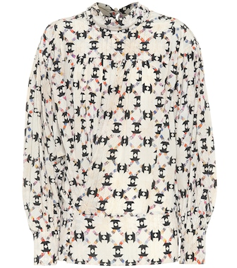 Isabel Marant - Brandi printed stretch-silk top - mytheresa.com