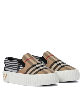Burberry Kids - Vintage Check canvas sneakers - mytheresa.com