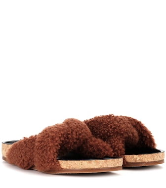 Chloé - Wool slip-on sandals - mytheresa.com