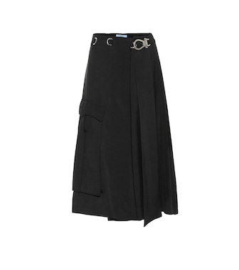 Prada - Embellished twill wrap skirt - mytheresa.com