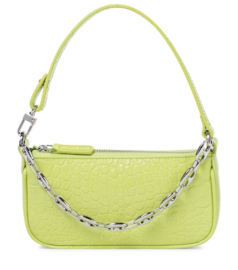 By Far - Rachel Mini croc-effect leather shoulder bag - mytheresa.com
