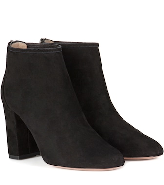 Aquazzura - Downtown 85 suede ankle boots - mytheresa.com