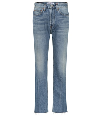 Re/Done - Stovepipe 27 high-waisted jeans - mytheresa.com