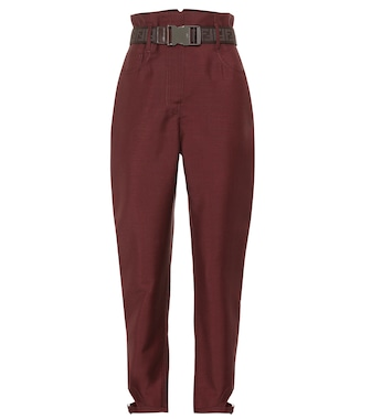 Fendi - High-rise mohair and wool pants - mytheresa.com
