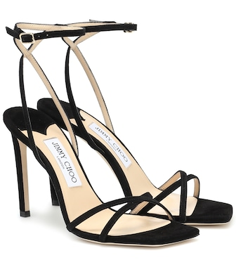 Jimmy Choo - Metz 100 suede sandals - mytheresa.com