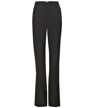 Saint Laurent - Wool crêpe trousers - mytheresa.com