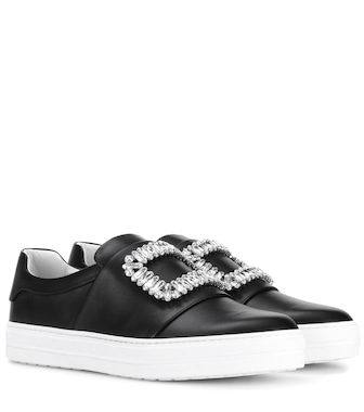 Roger Vivier - Sneaky Viv embellished leather sneakers - mytheresa.com
