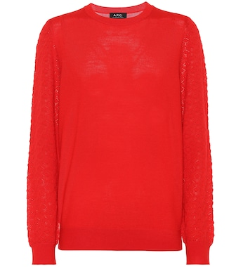 A.P.C. - Natacha merino wool-blend sweater - mytheresa.com