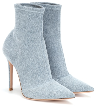 Gianvito Rossi - Elite denim ankle boots - mytheresa.com