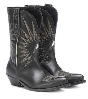 Golden Goose - Wish Star leather cowboy boots - mytheresa.com