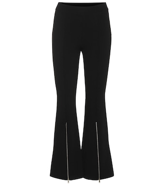 Stella McCartney - Ponte high-rise cropped flare pants - mytheresa.com