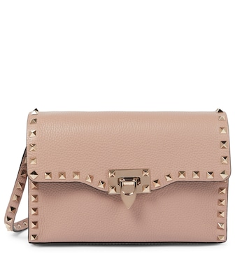 Valentino / Garavani - Valentino Garavani Rockstud Small leather shoulder bag - mytheresa.com