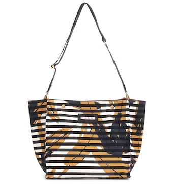 Marni - Printed canvas shopper - mytheresa.com