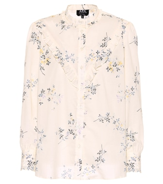 A.P.C. - Polly printed cotton top - mytheresa.com