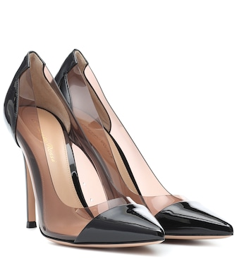 Gianvito Rossi - Plexi 105 patent leather pumps - mytheresa.com