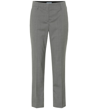 Prada - Cropped wool pants - mytheresa.com