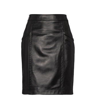 Saint Laurent - High-rise leather miniskirt - mytheresa.com