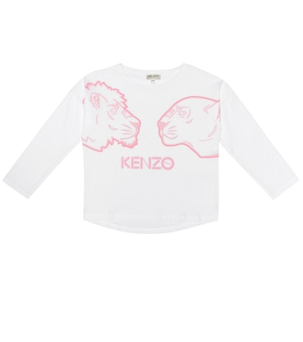 Kenzo Kids - Printed cotton-jersey top - mytheresa.com